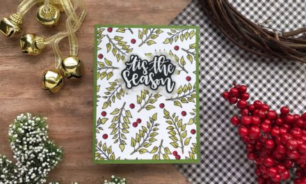 Create Your Own Patterned Paper with Repeat Stamping