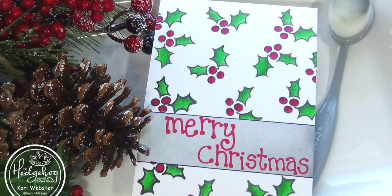 CREATING A ONE LAYER CHRISTMAS CARD with Kari W.