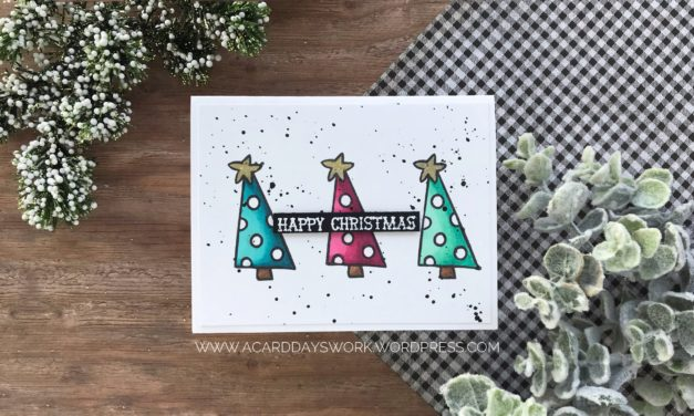 Easy to Mass Produce, Clean and Simple Christmas Card