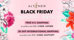 altenew black friday deal free shipping