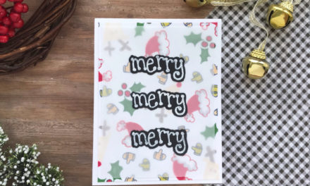 DIY Patterned Paper Background with Jess