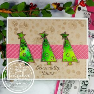 alcohol ink christmas tree square