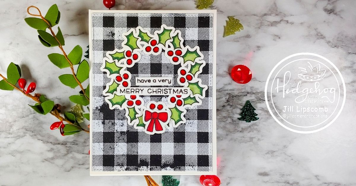 Holly Berry Wreath Christmas Card