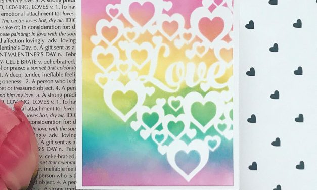 Rainbow Ink Blending With a Stencil