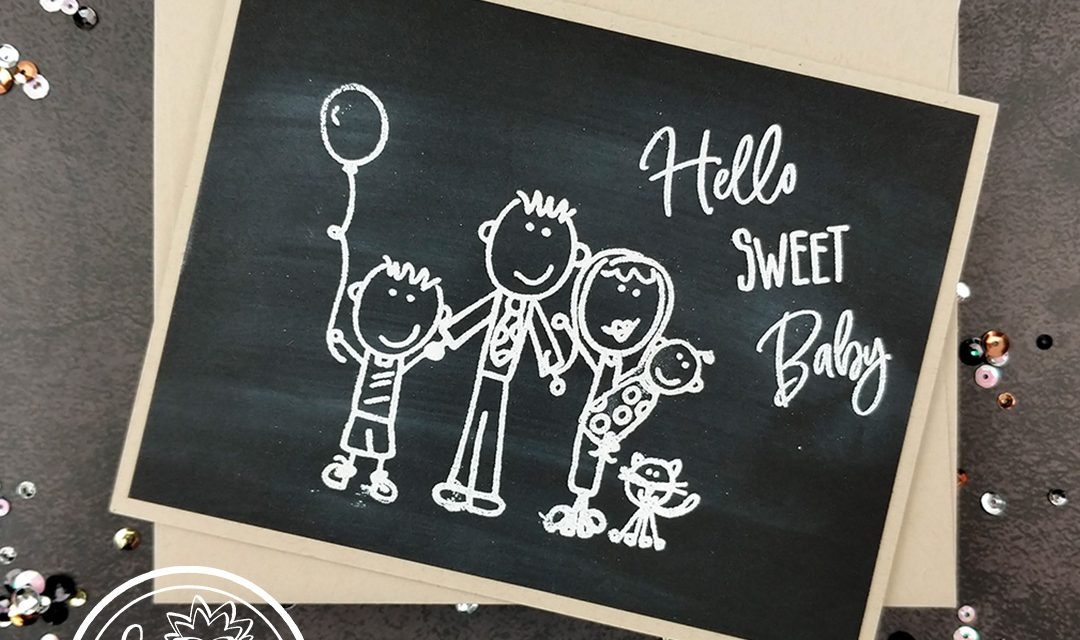 Sweet Baby Chalkboard Card by Nicole Watt