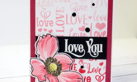 Ombre Stamped Love Background