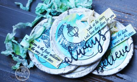 """Always Believe"" Mixed Media Tags"