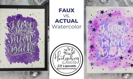 Faux vs Actual Watercolor Background