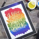 QUICK RAINBOW STAMPING + Tips to applying wide washi tape for backgrounds with Kari W.