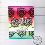 Combining Stamps for a Geometric Background
