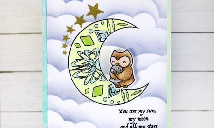 Masking the Moon for a Baby Shower card