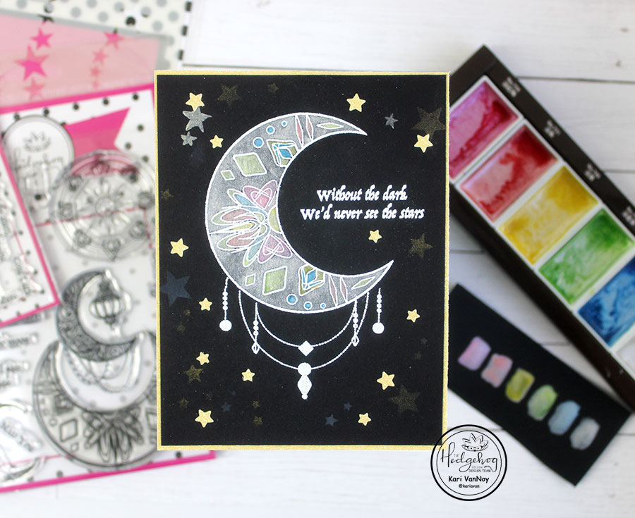 Secrets to Watercoloring on Dark Cardstock