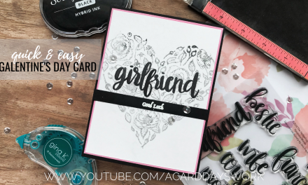 Clean and Simple Galentine's Day Card