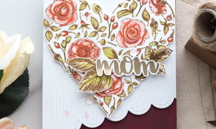 Creating Floral Heart Card for Mom with Marie
