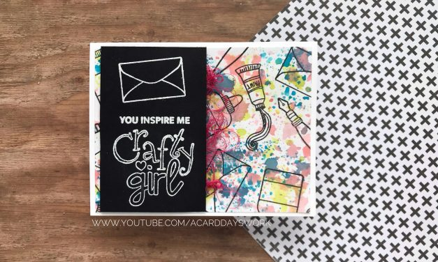 Ink Smooshing and Repeat Stamping for a Crafty Friend Card