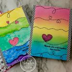 Rainbow Stitched Cards