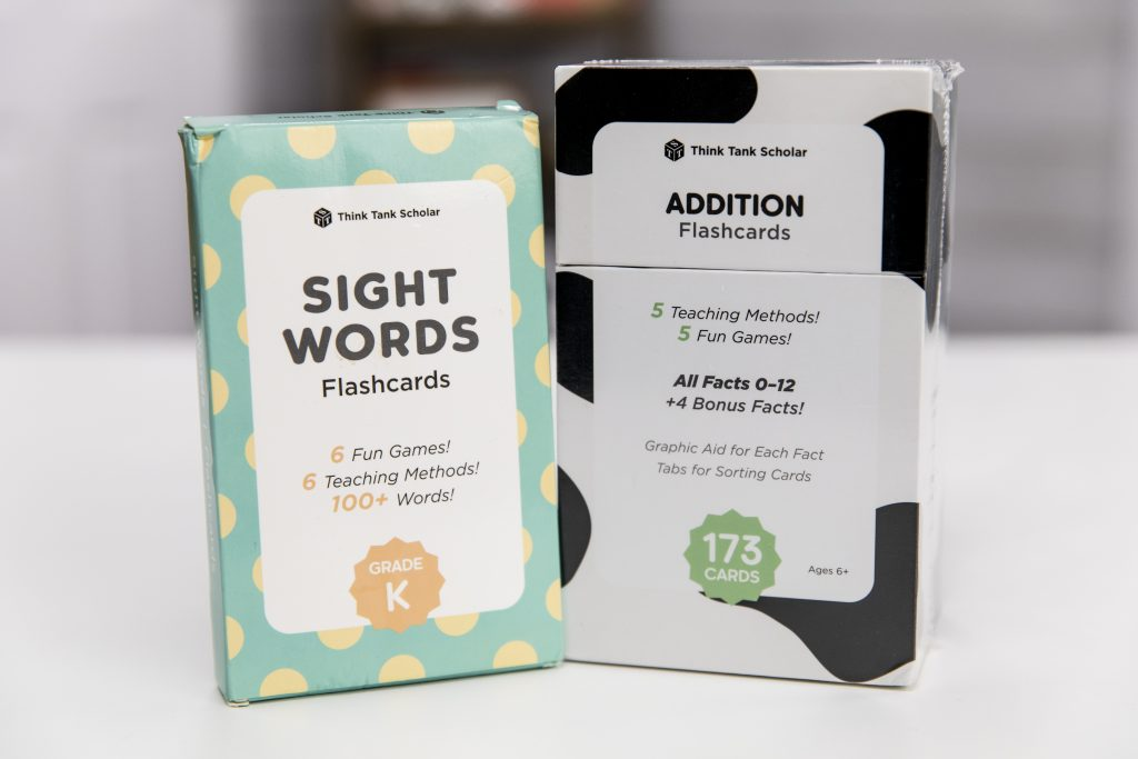 Sight word and addition flash cards
