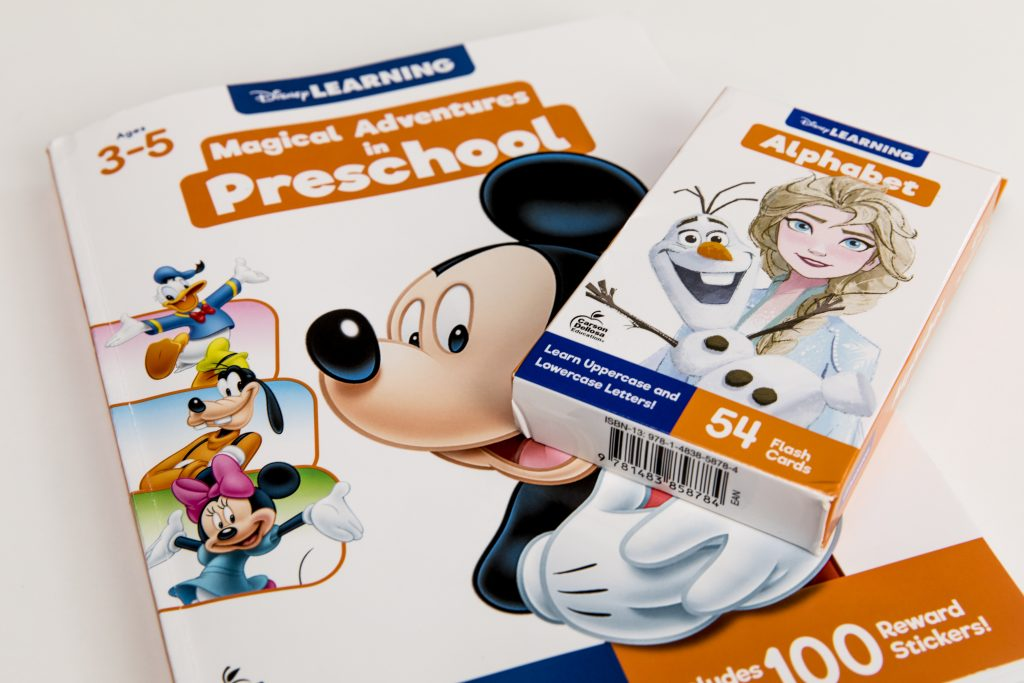 Disney Learn Workbook and flash cards