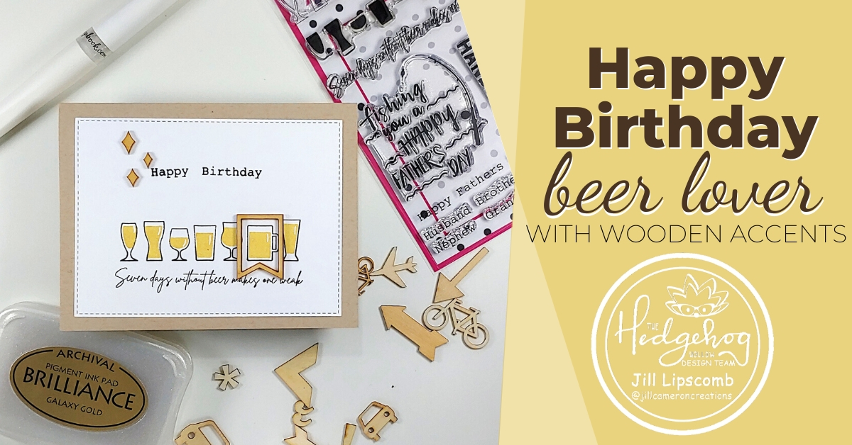 Happy Birthday with Wooden Elements