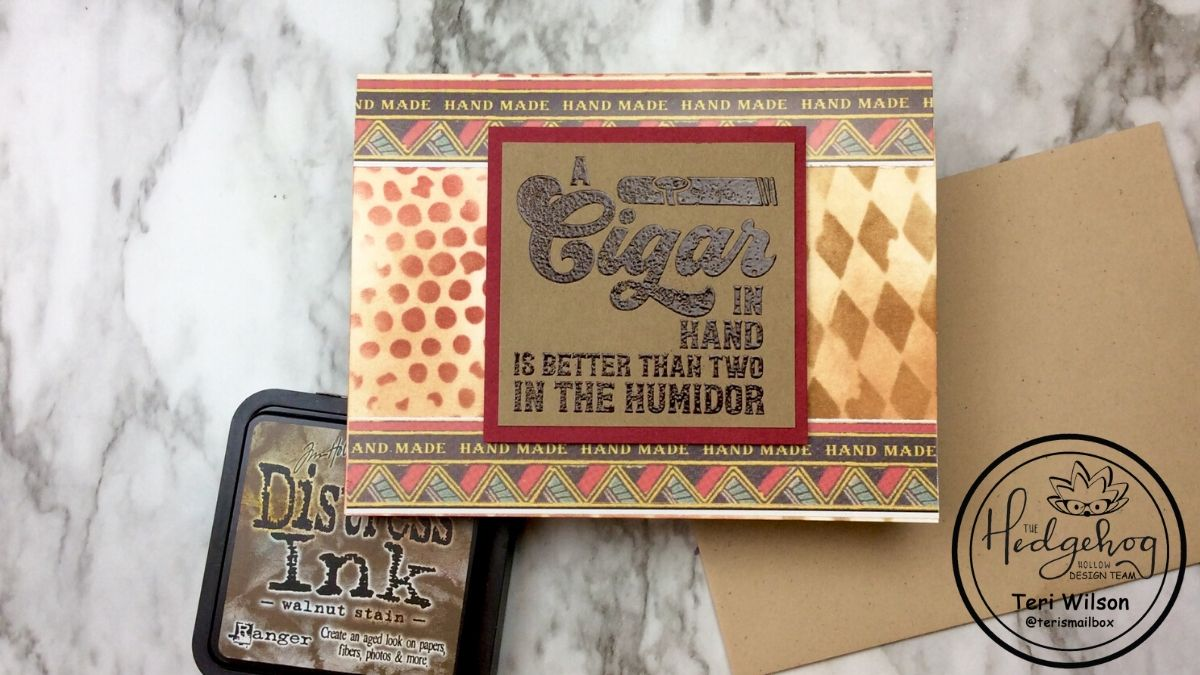 Cigar Themed Card For The Guys