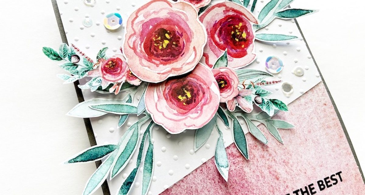 Elegant Flower Card Using the May 2020 Subscription Box!