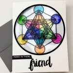 Stained Glass Geometric Card for Hedgehog Hollow