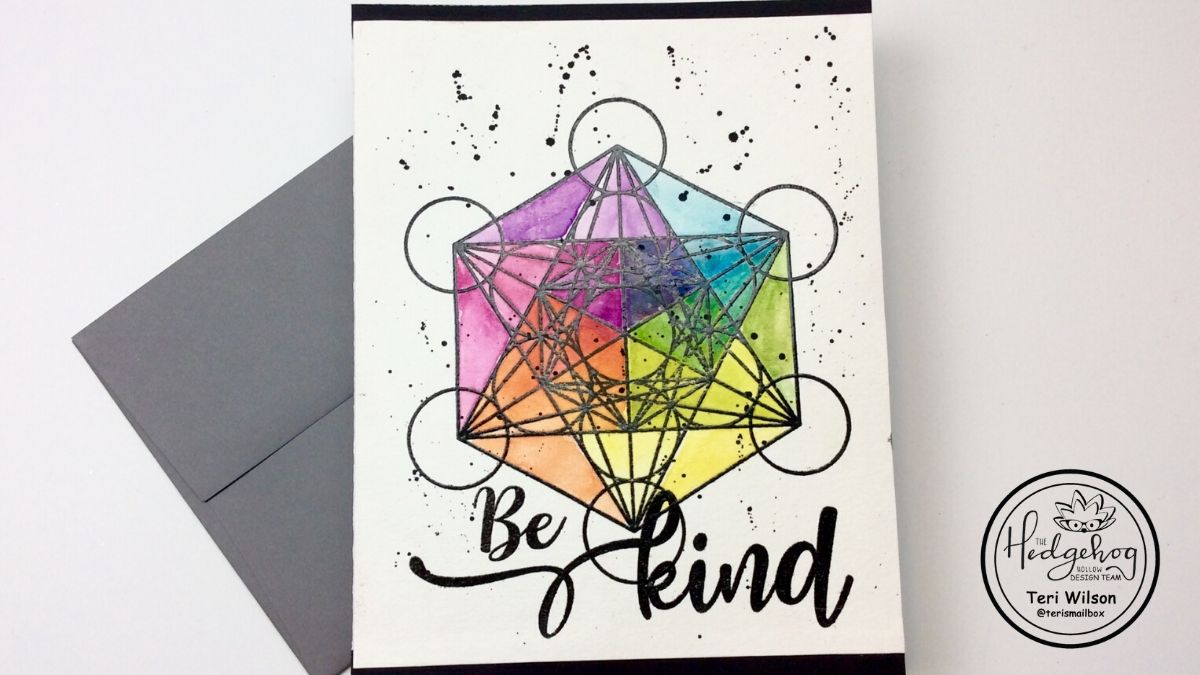 Watercolor Geometric Card