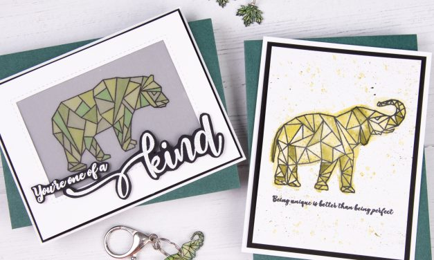 Geometric Keychain, Earrings, and Cards with Amanda Fitterer