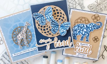 3 Geometric Cards with the June 2020 Subscription Box