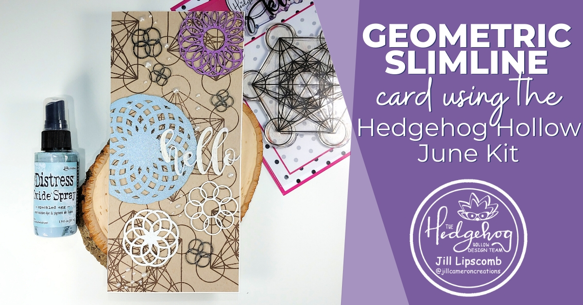 Geometric Slimline Card