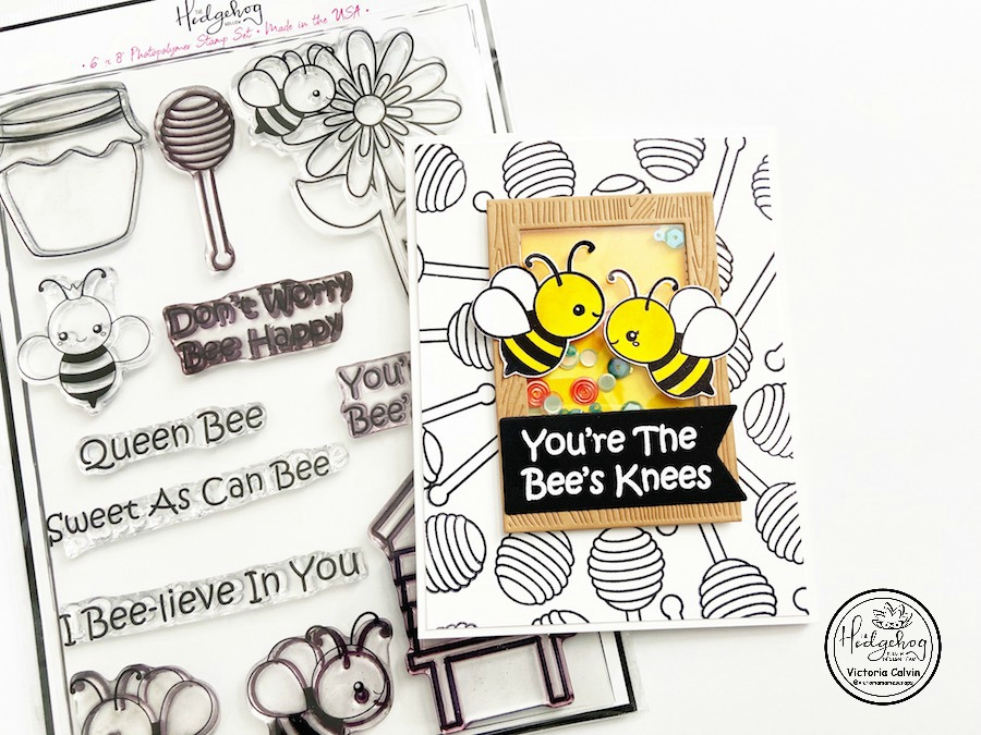 YOU'RE THE BEE'S KNEES - A FUN SHAKER CARD
