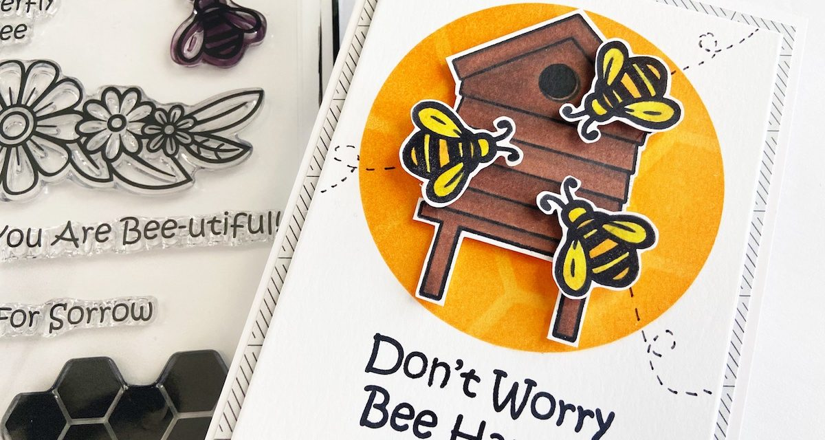 Don't Worry, Bee Happy! Adorable Encouragement Card
