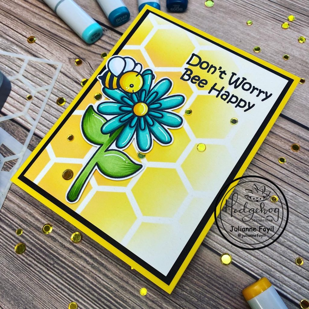 BEE INSPIRED CARD WITH JULIANNE