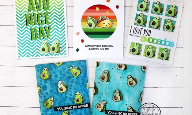 Holy Guacamole! Five Avocado Cards!