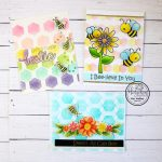 Hexagon Stencils three ways
