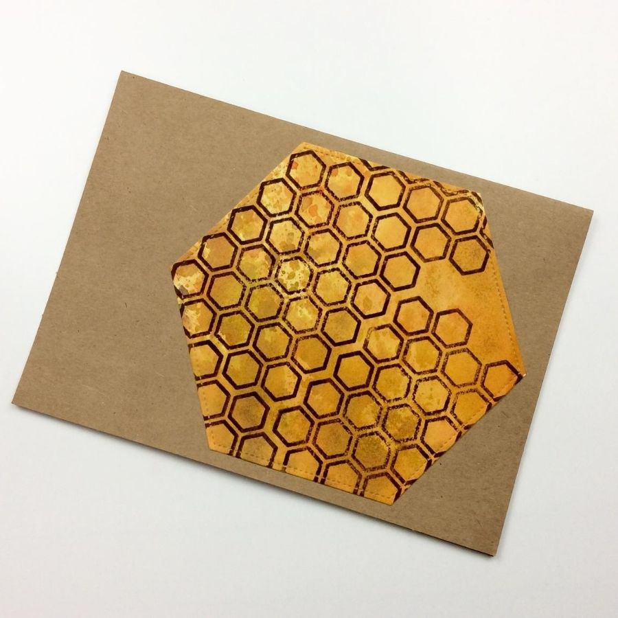 Honeycomb-shaped card tutorial!
