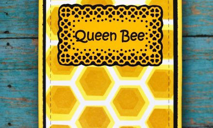 Easy Honeycomb Background with Layering Stencils