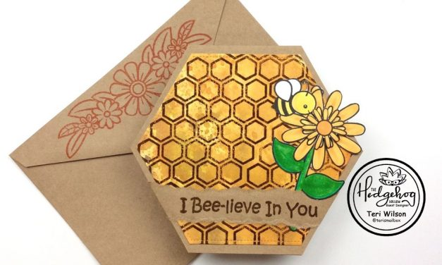 Let's Make a Honeycomb Shaped Card!