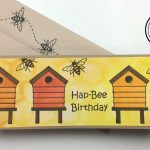 Hap-Bee Birthday Slim Line Card