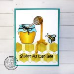 Realistic Dripping Honey On Your Card
