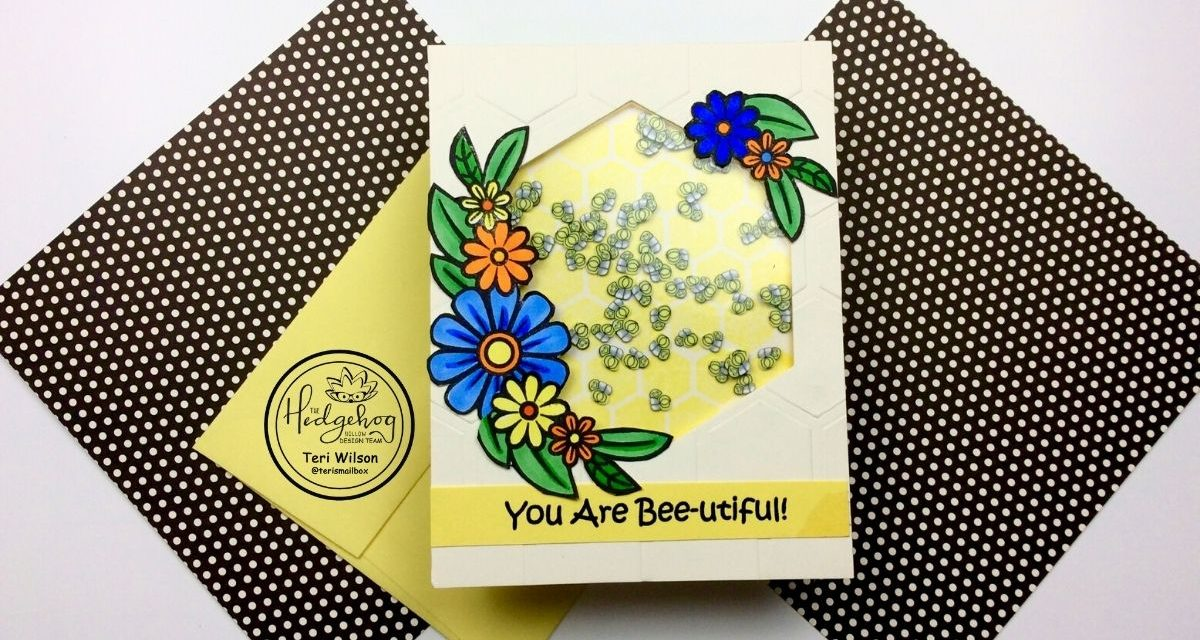 Busy Bee Card with Hedgehog Hollow