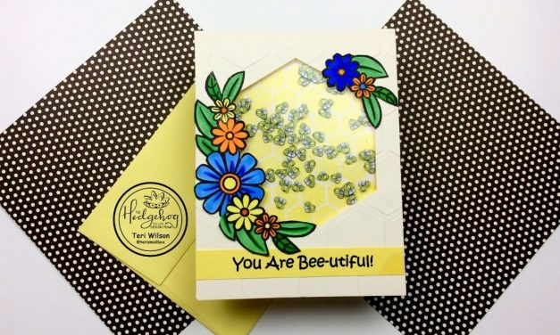 Busy Bee card with HedgehogHollow
