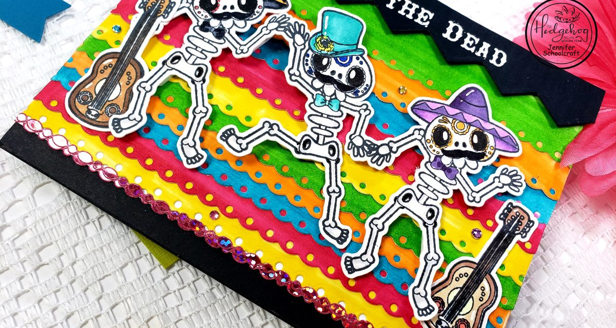 Creating Colored Cardstock for Day of the Dead Card