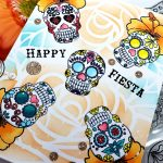 One Layer Card and Easy Masking: sugar skulls