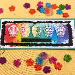 A Sugar Skull Rainbow – Slimline Card