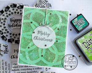 Glittery Christmas Card with supplies