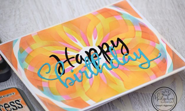 Mandala Stencil – Colorful Birthday Card