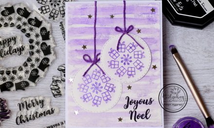 Christmas card using KALEIDOSCOPE POWDER – Video Tutorial