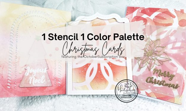 creating 3 unique christmas cards with 1 stencil & 1 color palette