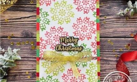 Mini Slimline Christmas card